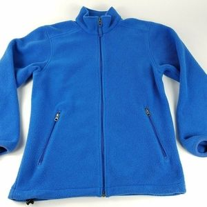 Land's End Women's Petite XS 2-4 Blue Zip Fleece